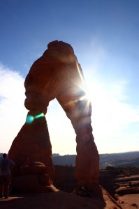 Delicate Arch with Sun